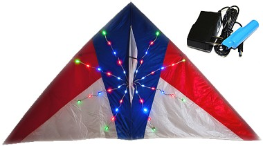 80 LED 9ft Night Kite detail