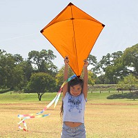 32 inch Oramge Diamond Kite